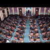 """The House of Representatives Chamber, with 110 members, is the larger of the two chambers. Each representative is elected to a two-year term from a district of about 90,000 constituents. Each member sits at an assigned desk, with Democrats traditionally sitting on the left of the chamber as you face the rostrum and Republicans on the right. The presiding officer is gthe Speaker of the House, a representative elected to his position by fellow members."" <br /> <br /> (Taken, from""Your State Capitol"", booklet.)"