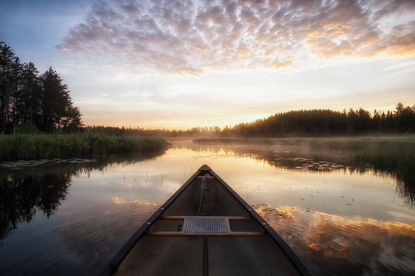 Misty Morning Canoe