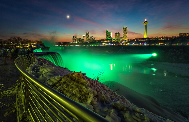 Niagara Falls at Night from American Side