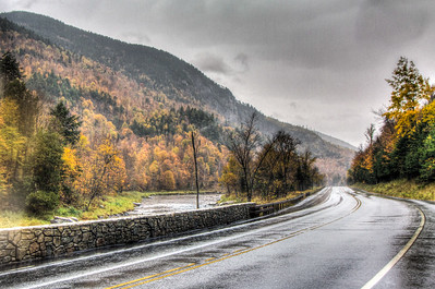 Rainy Road in the Adirondacks