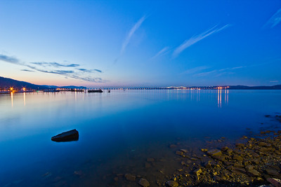 Hudson River and Tappan Zee Bridge from Piermont, New York