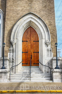 Entrance at Settle Memorial Church