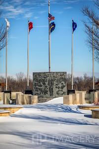 Shelton Memorial - Snow