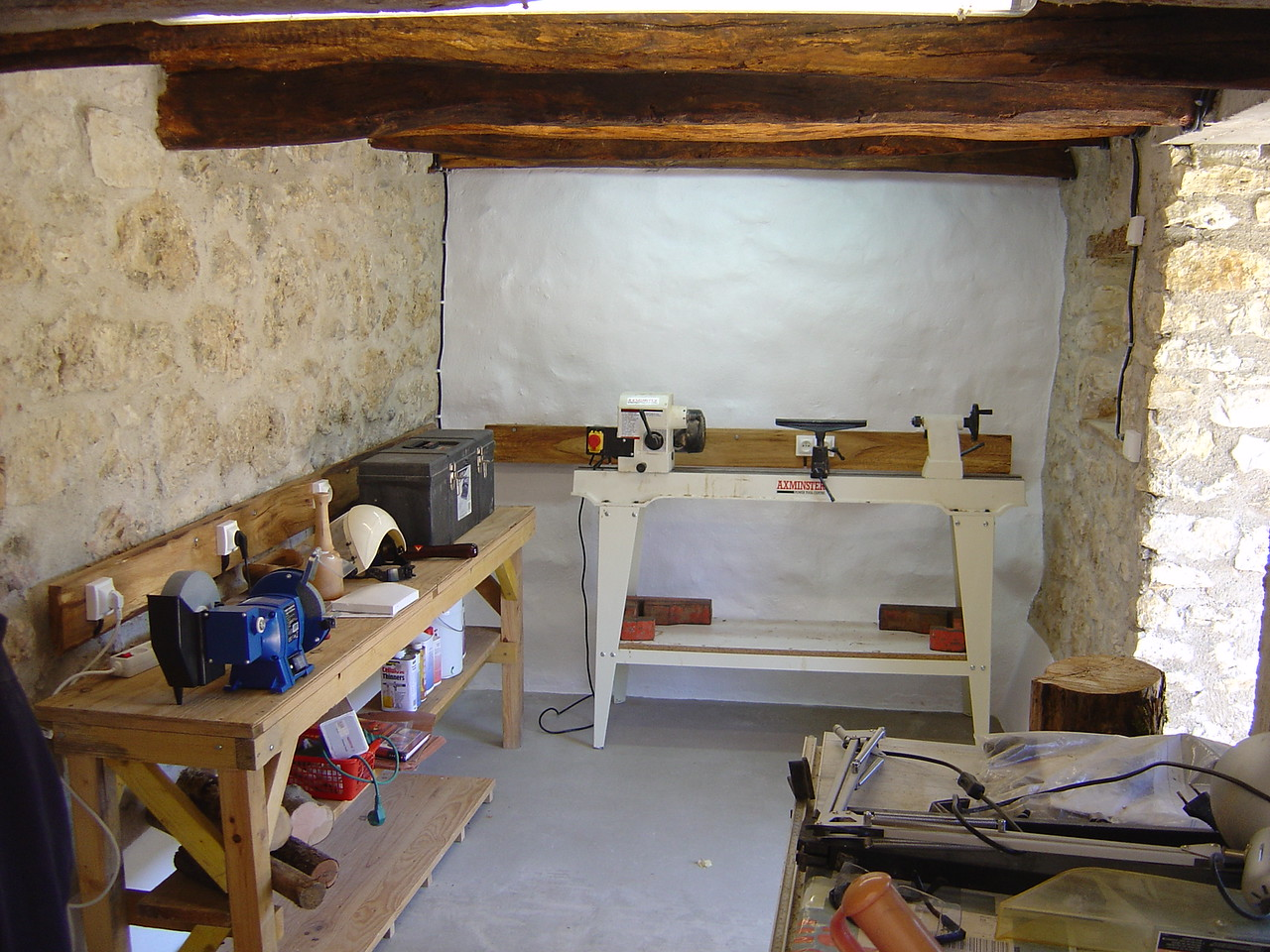 We did up one of the stalls as a dedicated wood-turning studio to make bowls and stuff.