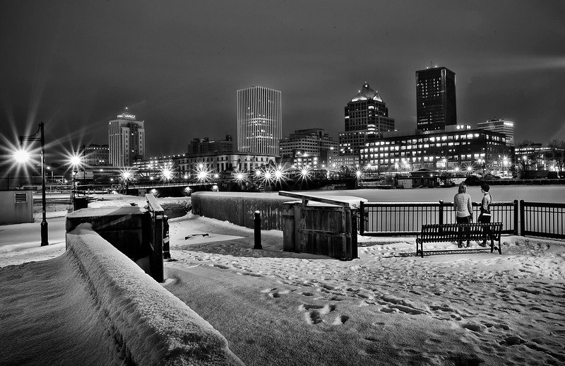 Rochester Downtown CityScape at Dawn