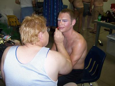 Preparing the drag queens