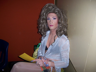 Miss Bebe waiting to introduce the next act