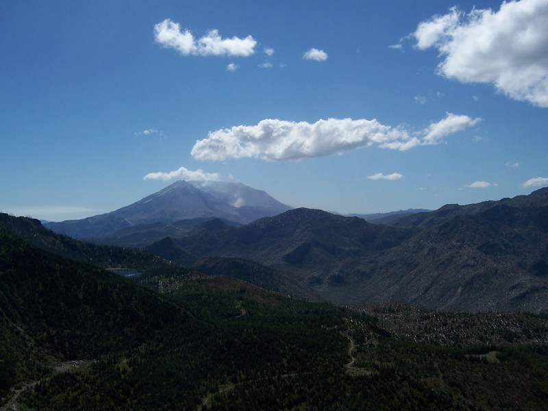 Mount St. Helens on the Saturday hike