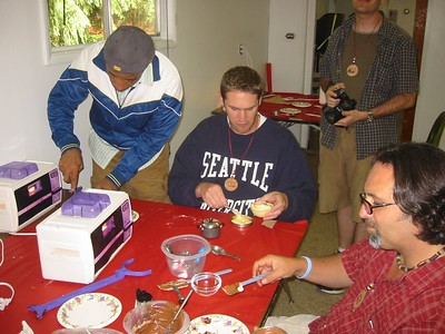 It's the Easy Bake Oven Class.  Bill is showing Luke what to do.  Rob's cakes kept getting stuck.