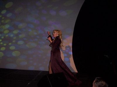 Christine W on stage