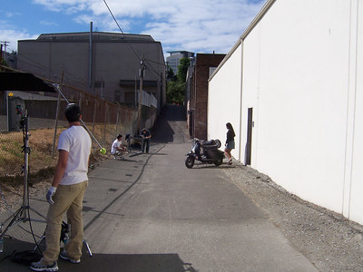 The alley where we filmed all day