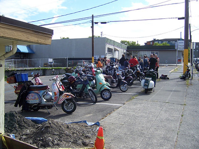 The scooter staging area