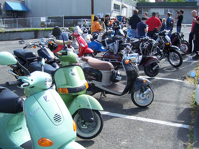 Lots and lots of scooters