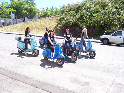 "One scooter gang ""The Bella Donnas"""