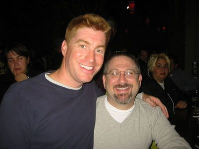 Here's me and Adrian.  How early did he get here to get a seat at the bar?
