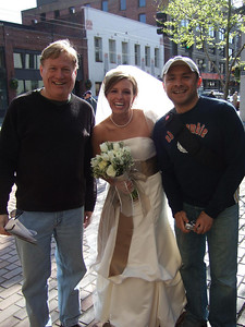 The fourth category was people.  Here Steve, Alex, and Drew found a Bride happily willing to pose with them.