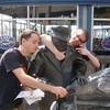 Team Goyo helps Ivar feed the gulls with a hotdog.