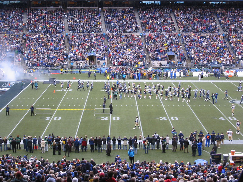 The Seahawks take the field