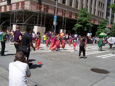 Filipino Dancing Girls Pride.  Why are they in the parade every year?