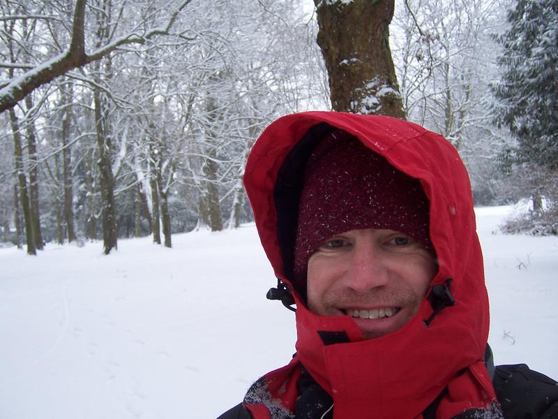 It's me bundled up at Volunteer Park