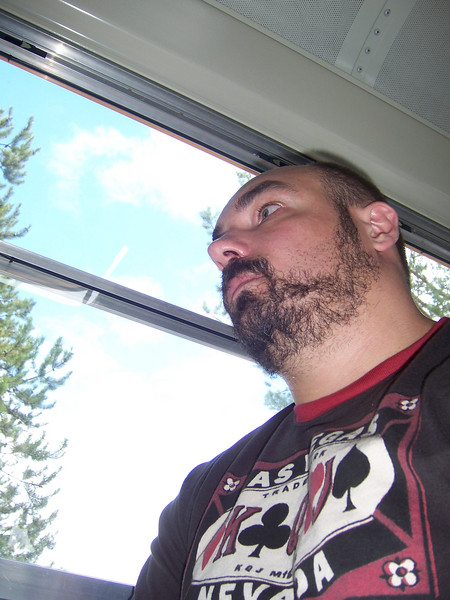 Matt on the Auschwitz bus to this year's Street of Dreams