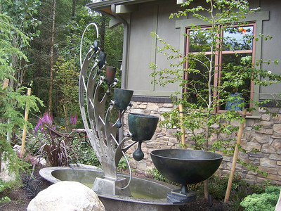 """This won """"Most geek-tacular fountain"""" award.  It was very cool.  One cup would fill up and then tip over into the lower bigger cup and making a bell chime."""