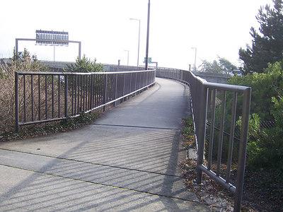 11:43am, one hour into the walk I enter the bridge.
