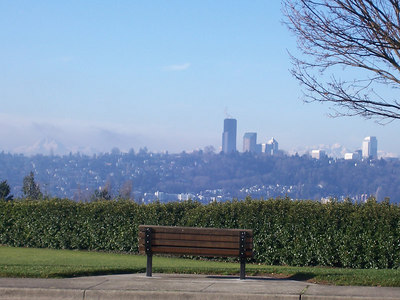12:22 pm, My first stop to rest on Mercer Island