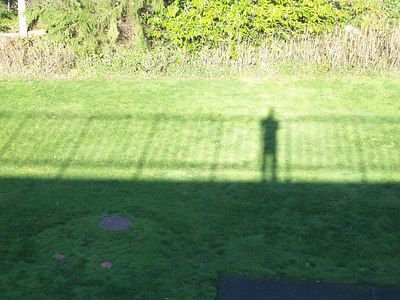 My shadow from the bridge.