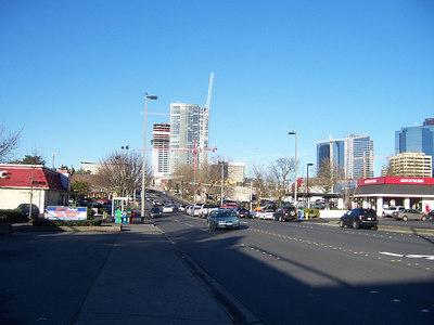 Bellevue Way.  I counted seven standing cranes in downtown Bellevue.