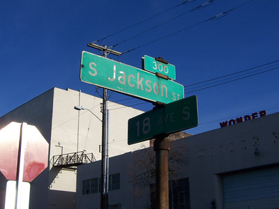 The first turn at 18th and S Jackson right near the old Wonder Bread building.