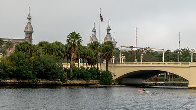 University of Tampa Minarets and Kayaker