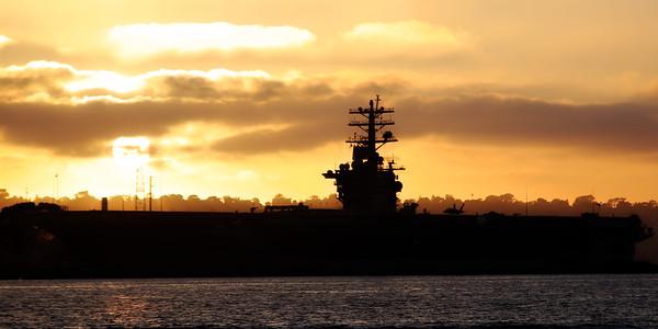 Aircraft Carrier Sunset - San Diego, California