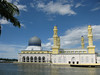 Kota Kinabalu City Mosque: can hold up to a whopping 12,000 worshippers!<br /> Beautifully located in a man-made lagoon near the sea.