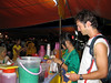 A popular drink is the ABC (Air Batu Campur): a concoction of shaved ice sweetened with palm sugar syrup, various colours of jelly cubes + sweet corn and red beans.