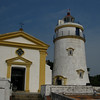 The monastery and lighthouse on top of Guia Hill