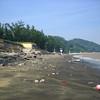 Praia Hak Sa = black sand beach. extensive typhoon damage, no swimming allowed.