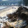 Hak Sa beach in Taipa - damage from typhoon