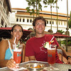Julie & Andrew enjoy a signature Singapore Sling from their birthplace, the Raffles Hotel