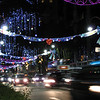 overwhelming Christmas decorations on busy Orchard Road