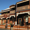 The Queenscliff Inn, with its detailed wrought iron-work and Victorian decorated rooms. (we didn't stay here, opting for a better room with jacuzzi tub around the block)