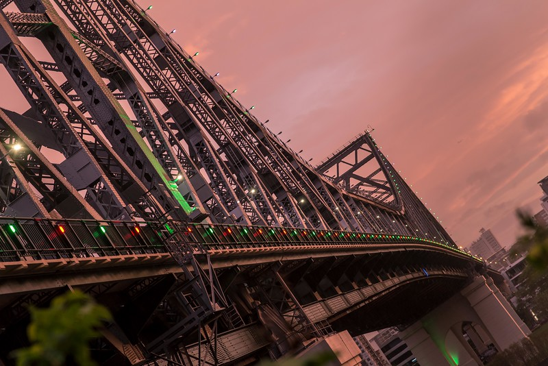 Christmas Lights On Story Bridge