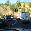 Traffic on Ecuadorian roads. (from Quito to Otavalo on Panamerican hwy)