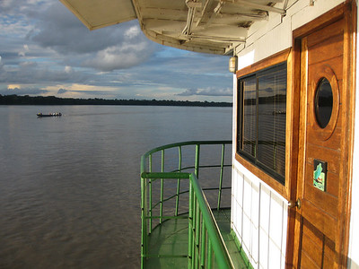 The Manatee riverboat was quite comfortable, and a great way to cruise the big river Napo