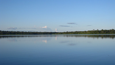 Lago Limoncocha Natural Reserve, home to numerous species of birds, plus black caimans and piranhas!