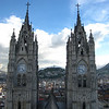the twin towers of Basilica del Voto Nacional