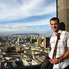 Andrew looks out over Quito to the north.