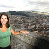 Halfway up the Basillica's towers, we stop to take in the view.