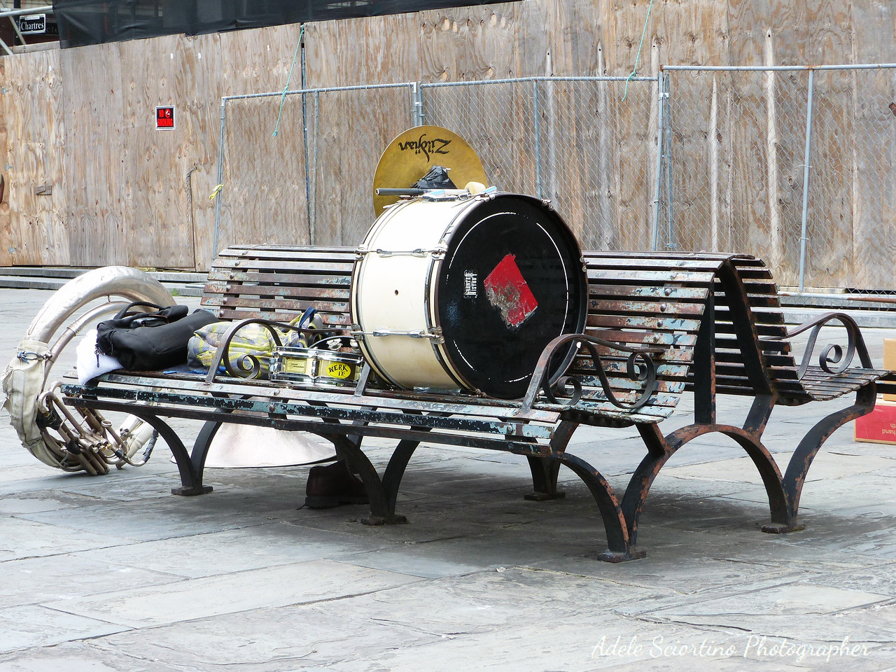 Street Performers On Break