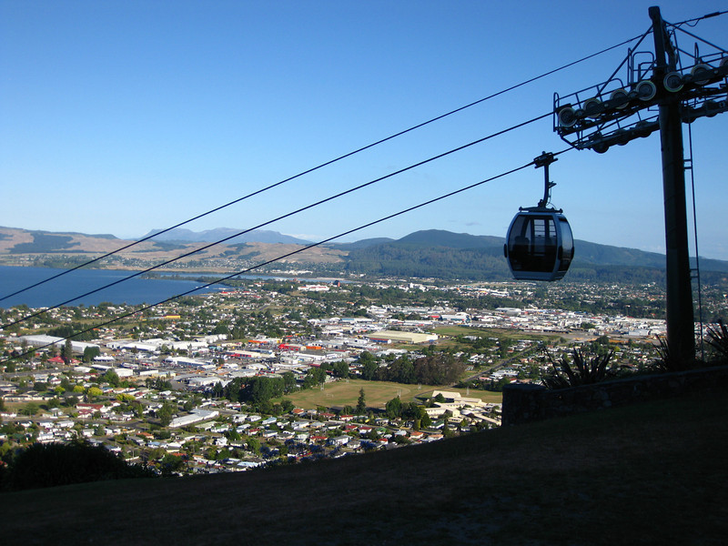 First stop in Rotorua: the gondola of course!